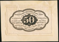 Fractional Currency:First Issue, Fr. 1313SP 50¢ First Issue Narrow Margin Back About New.. ...