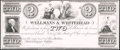 Obsoletes By State:Ohio, Massillon, OH - Wellmans & Whitehead $2 Proprietary Proof Wolka1619-6. ...