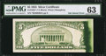 Error Notes:Ink Smears, Fr. 1655* $5 1953 Silver Certificate. PMG Choice Uncirculated 63.....