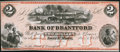 Canadian Currency: , Sault Ste. Marie, Canada- Bank of Brantford $2 Nov. 1, 1859 Ch. #40-12-04R. ...