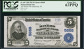 National Bank Notes:Michigan, Ishpeming, MI - $5 1902 Plain Back Fr. 607 The Miners NB Ch. # 5668. ...