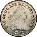 Early Dollars: , 1799 $1 Irregular Date, 13 Stars B-15, BB-152, R.4. Fine 15 NGC.Irregular date, first 9 high...