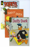 Bronze Age (1970-1979):Cartoon Character, Daffy Duck and Popeye File Copies Box Lot (Gold Key/Whitman,1965-82) Condition: Average VF/NM. Two famous cartoon character...