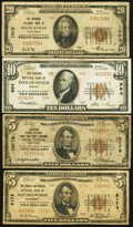 National Bank Notes:ZZZ, Small Size National Quartet.. ... (Total: 4 notes)