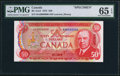 Canadian Currency: , BC-51aS $50 1975 Specimen.. ...