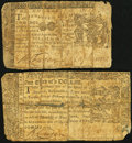 Colonial Notes:Maryland, Maryland January 1, 1767 $2 Good;. Maryland March 1, 1770 $1/3Good.. ... (Total: 2 notes)