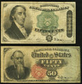 Fr. 1376 50¢ Fourth Issue Stanton Very Good; Fr. 1379 50¢ Fourth Issue Dexter Very Good-Fine