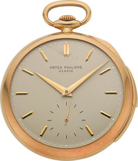 Patek Philippe Important & Very Rare Gold Carillon Minute Repeating Watch, circa 1931