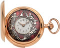 """Timepieces:Pocket (pre 1900) , Swiss 18k Gold Quarter Hour Repeater With """"Father Time"""" & Erotic Automatons. ..."""