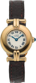 Timepieces:Wristwatch, Cartier Lady's Vermeil Wristwatch. ...