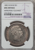 Coins of Hawaii , 1883 $1 Hawaii Dollar -- Improperly Cleaned -- NGC Details. Unc....