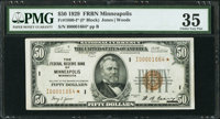 Fr. 1880-I* $50 1929 Federal Reserve Bank Note. PMG Choice Very Fine 35