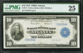 Large Size:Federal Reserve Bank Notes, Fr. 811 $10 1915 Federal Reserve Bank Note PMG Very Fine 25.. ...