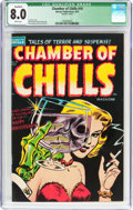 Golden Age (1938-1955):Horror, Chamber of Chills #19 (Harvey, 1953) CGC Qualified VF 8.0 Whitepages....