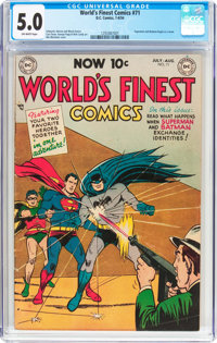 World's Finest Comics #71 (DC, 1954) CGC VG/FN 5.0 Off-white pages