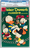 Golden Age (1938-1955):Cartoon Character, Walt Disney's Comics and Stories #183 White Mountain Pedigree(Dell, 1955) CGC VF/NM 9.0 White pages....