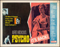 """Movie Posters:Hitchcock, Psycho (Paramount, R-1965). Half Sheet (22"""" X 28"""") Style B.Hitchcock.. ..."""