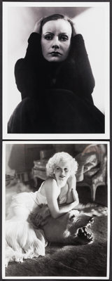 "Greta Garbo & Others Lot (Vanity Fair, 2002). Reproduction Photos (2) (11"" X 14""), Program (20 Pages..."