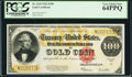 Large Size:Gold Certificates, Fr. 1215 $100 1922 Gold Certificate PCGS Very Choice New 64PPQ.. ...