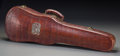 , An Alligator Leather and Silver-Mounted Violin Case, first half20th century. 5 h x 9-3/4 w x 31 d inches (12.7 x 24.8 x 78....