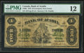 Canadian Currency: , Liverpool, NS- Bank of Acadia $4 Dec. 2, 1872 Ch. # 5-10-02. ...