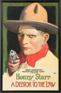 """Movie/TV Memorabilia:Posters, A Bruce Willis Owned Movie Poster of """"A Debtor to the Law.""""..."""