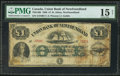 Canadian Currency: , Saint Johns, NF- Union Bank of Newfoundland £1 1880 Ch. #750-14-06.. ...