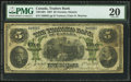 Canadian Currency: , Toronto, ON- Traders Bank of Canada $5 Nov. 1, 1907 Ch. #720-14-04.. ...