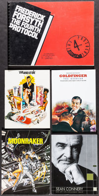 "James Bond & Others Lot (1970s-2000s). Programs (94) (Multiple Pages, Approx. 5.5"" X 8.5"" - 9"" X..."