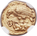 Ancients:Greek, Ancients: SICILY. Acragas. Ca. 410-406 BC. AV 2 litrae or diobol (11mm, 1.34 gm, 1h). NGC Choice AU 4/5 - 4/5....
