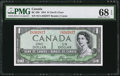 Canadian Currency: , BC-29b $1 1954 Devil's Hair.. ...