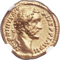 Ancients:Roman Imperial, Ancients: Antoninus Pius (AD 138-161). AV aureus (18mm, 7.20 gm, 6h). NGC Choice XF 5/5 - 4/5....