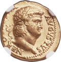 Ancients:Roman Imperial, Ancients: Nero (AD 54-68). AV aureus (18mm, 7.24 gm, 6h). NGC XF4/5 - 2/5....