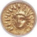 Ancients: CALABRIA. Tarentum. Under Alexander the Molossian, King of Epirus (350-330 BC). AV hemilitron or 12th stater (...