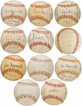 Autographs:Baseballs, Lot of 11 Team Signed Baseball from the Ken Aspromonte Collection....