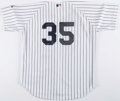 Baseball Collectibles:Uniforms, Mike Mussina Signed New York Yankees Jersey. ...