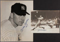Baseball Collectibles:Photos, 1990's Joe DiMaggio and Mickey Mantle Signed Oversized Photographs(2). ...