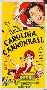 "Carolina Cannonball (Republic, 1955). Three Sheet (41"" X 79"") & Lobby Card Set of 8 (11"" x 14"")..."