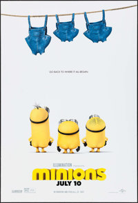 """Minions & Others Lot (Universal, 2015). One Sheets (5) (27"""" X 40"""") DS Advance, & Japanese Commercial P..."""