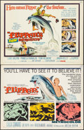 "Movie Posters:Adventure, Flipper & Other Lot (MGM, 1963). Half Sheets (2) (22"" X 28"").Adventure.. ... (Total: 2 Items)"