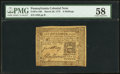 Colonial Notes:Pennsylvania, Pennsylvania March 20, 1773 6s PMG Choice About Unc 58.. ...