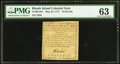 Colonial Notes:Rhode Island, Rhode Island May 22, 1777 $1/36 PMG Choice Uncirculated 63.. ...