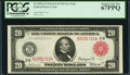 Large Size:Federal Reserve Notes, Fr. 953b $20 1914 Red Seal Federal Reserve Note PCGS Superb Gem New 67PPQ.. ...