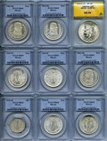 Mexico, Mexico: Republic Certified Nine-Piece Lot 1935-1968,... (Total: 9coins)