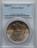 Morgan Dollars: , 1883-O $1 MS63 PCGS. PCGS Population: (50871/49586). NGC Census: (53352/59236). CDN: $51 Whsle. Bid for problem-free NGC/PC...