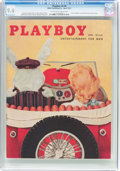 Magazines:Vintage, Playboy V4#4 (HMH Publishing, 1957) CGC NM 9.4 Off-white to white pages....