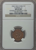 Civil War Merchants, 1863 Charles Gentsch Cafe Token, New York, NY, F-630 AC-1a, MS65Brown NGC. This lot also include the following: 1863 Spec...(Total: 4 coins)