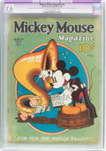 Platinum Age (1897-1937):Miscellaneous, Mickey Mouse Magazine #6 (K. K. Publications/Western PublishingCo., 1936) CGC Apparent FN/VF 7.0 Slight (P) Cream to off-whit...