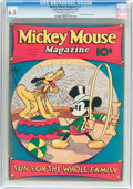 Platinum Age (1897-1937):Miscellaneous, Mickey Mouse Magazine #11 (K. K. Publications/ Western Publishing Co., 1936) CGC FN+ 6.5 Off-white to white pages....