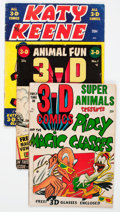 Golden Age (1938-1955):Miscellaneous, Golden Age 3-D Comics Group of 21 (Various Publishers, 1950s) Condition: Average GD/VG.... (Total: 21 Comic Books)